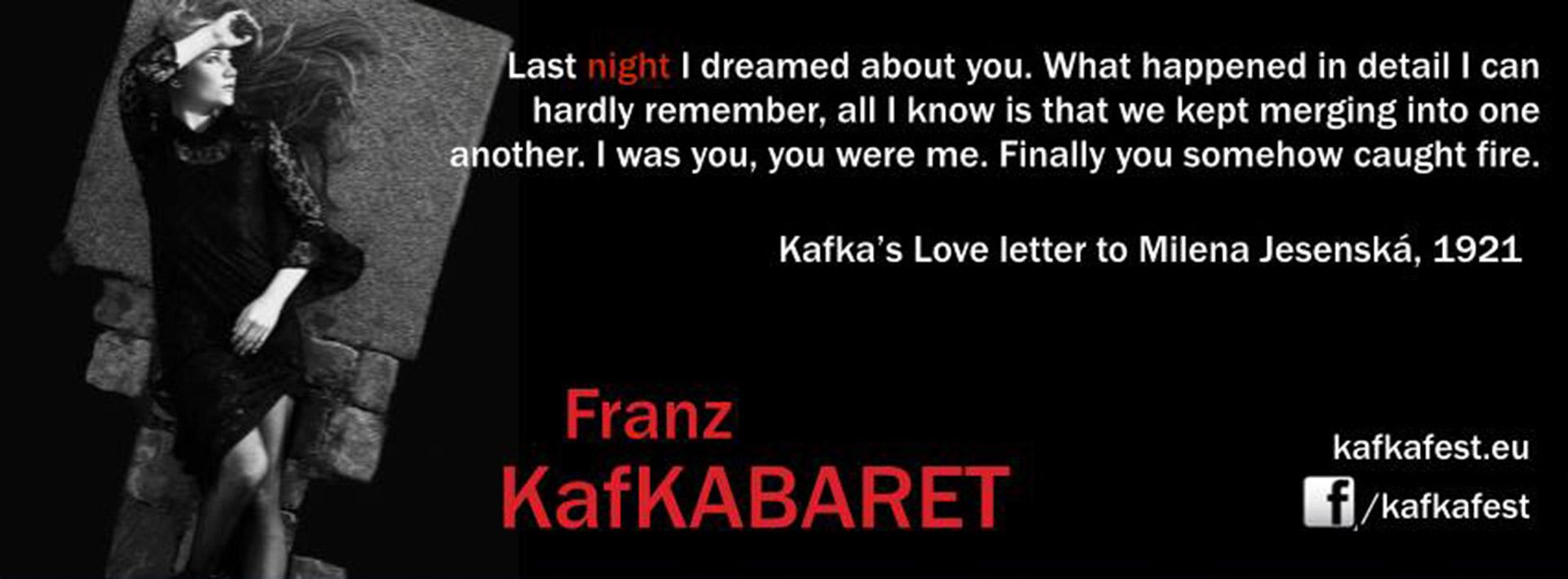 Kafkabaret Franz Kafka Kryšof šafer Kabaret Praha